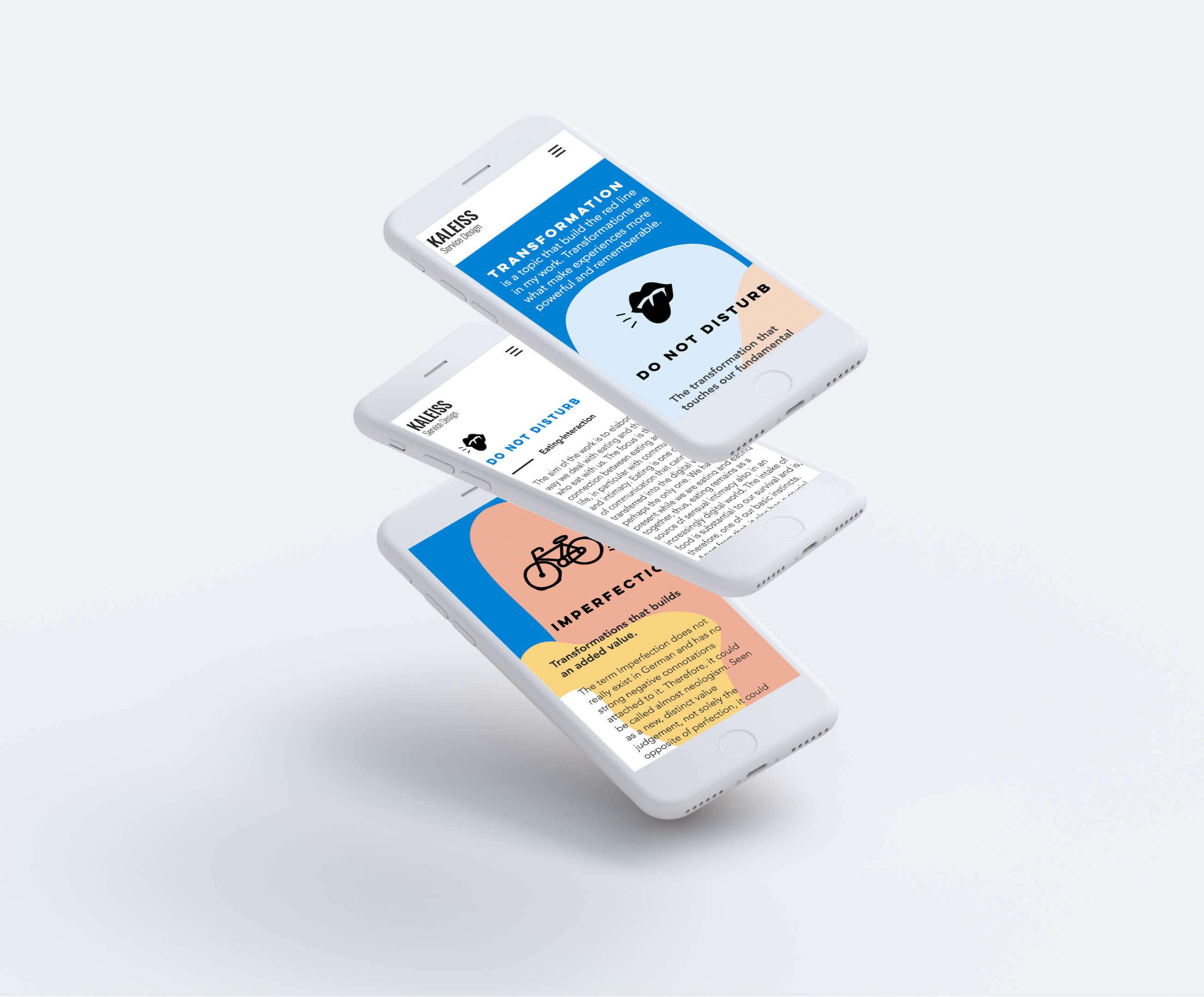 Kaleiss Website Mobile