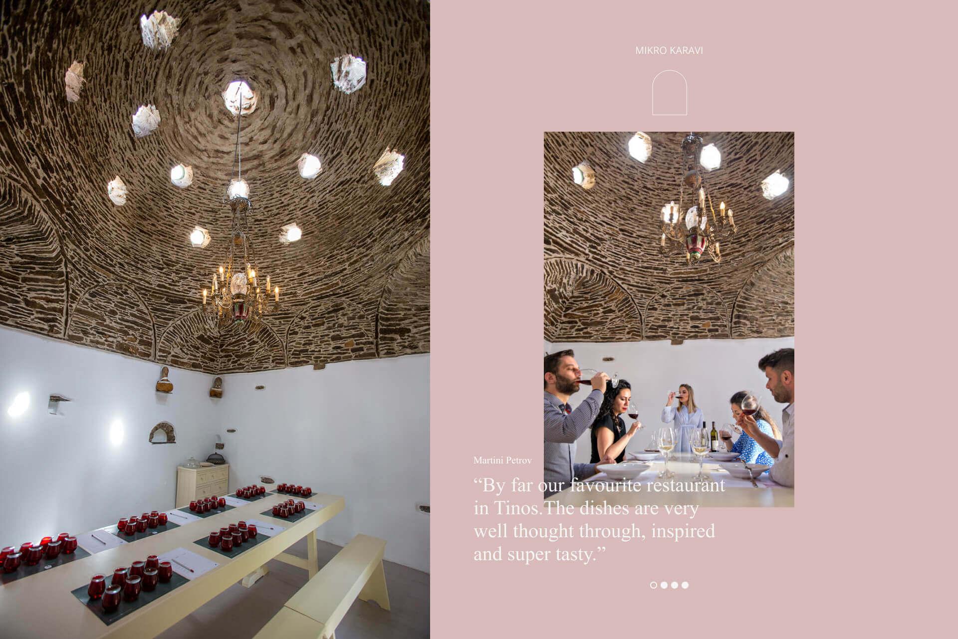 Mikro Karavi Restaurant branding and website design